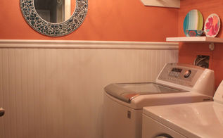 laundry room makeover wainscoting beadboard, home decor, laundry rooms, New laundry room redo Come and see all the pics