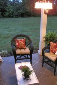 staining your concrete patio to look like tile, concrete masonry, flooring, outdoor living, painting, patio, tile flooring