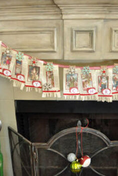 vintage merry christmas banner, christmas decorations, seasonal holiday decor