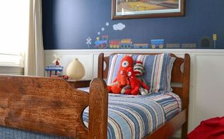 boys train bedroom, bedroom ideas, home decor, Habitat Re store bed fram