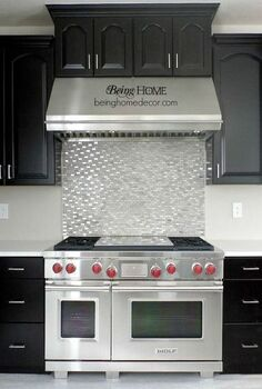 super simple diy tile backsplash, home decor, kitchen backsplash, kitchen design, tiling, wall decor, DIY Stove backsplash