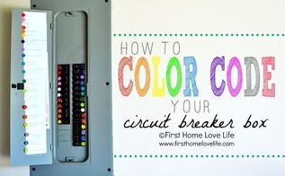how to color code your circuit breaker box, electrical, home maintenance repairs, how to