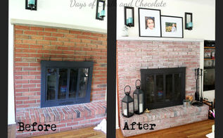 whitewashed fireplace, concrete masonry, fireplaces mantels, living room ideas