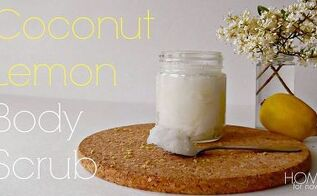 diy coconut lemon scrub, crafts