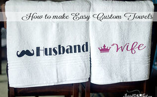 make these custom towels for a wedding gift, crafts, Making these custom towels was so easy to do