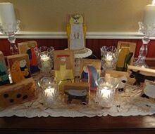 wooden nativity scene great sunday school project, seasonal holiday decor, woodworking projects