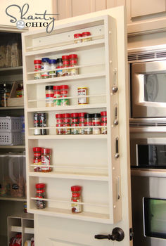 diy pantry door spice rack, cleaning tips, closet, storage ideas, Pantry Door Spice Rack