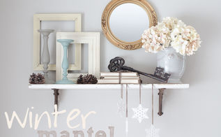winter mantel, christmas decorations, seasonal holiday d cor, Use contrasts of light and dark and different textures to create visual interest