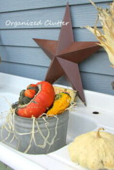 a rustic vintage fall potting sink, gardening, outdoor living, repurposing upcycling, seasonal holiday decor, This is the top of the potting sink