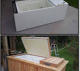 Refrigerator To Ice Chest, Diy, Outdoor Living, Repurposing Upcycling,  Woodworking Projects,