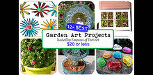 more garden art projects for 20 or less gift ideas, crafts, flowers, gardening, repurposing upcycling, See all the projects here