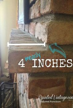 tired of only 4 to work with see my 28 diy cure for mantel envy, diy, home decor, Mantel real estate decorating space is at a premium in my house 4 inches is not a lot to work with