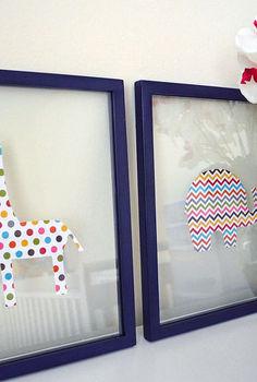 scrapbook animal artwork, bedroom ideas, crafts, home decor