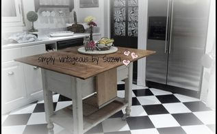 black and white checkerboard floor in the kitchen, diy, flooring, kitchen design