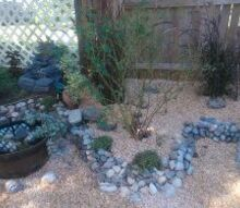 mini rock garden, gardening, I m just continuing the rock border
