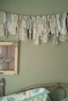 shabby chic garland, bedroom ideas, crafts, home decor, shabby chic