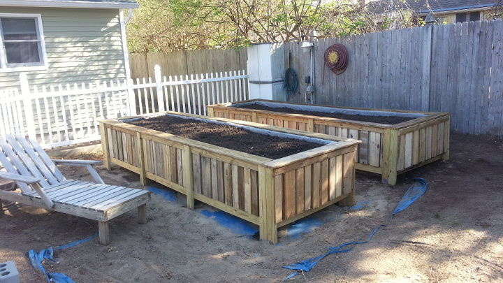 Raised Bed Gardens From Pallets Hometalk