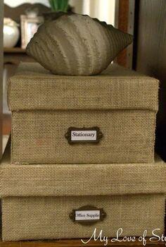 diy custom burlap storage box, crafts, home decor, Easy DIY Burlap Storage Box Tutorial