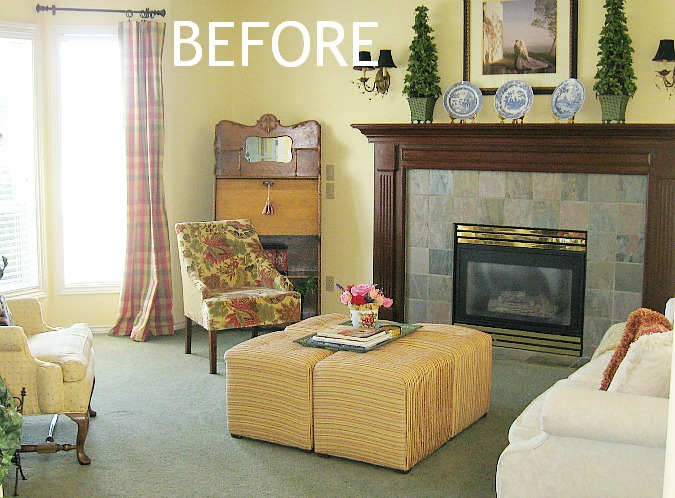 My Traditional Meets French Country Living Room Makeover