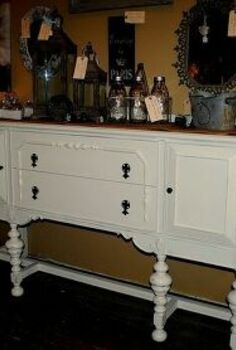 1930 s buffet update, painted furniture, repurposing upcycling, rustic furniture
