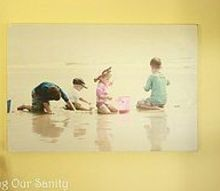photo mounted on wood, home decor
