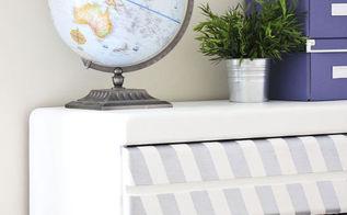 silver painted herringbone dresser, painted furniture
