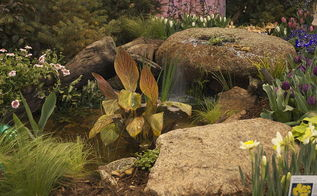 spouting rocks can stand by themselves or become a dramatic waterfall into a pond, curb appeal, landscape, ponds water features, A spouting rock can add a dramatic waterfall into a pond
