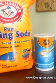 diy drain cleaner, cleaning tips, I use baking soda salt and cream of tartar to clean my drains