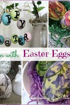 fun easy and inexpensive d coupage easter eggs, easter decorations, home decor, seasonal holiday decor, Three different methods and three different inspirations for making fun d coupage Easter eggs
