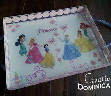 tea time diy princess tea tray, crafts, decoupage, DIY Princess Tea Tray