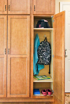 modified pantry just in time for back to school, cleaning tips, closet, storage ideas