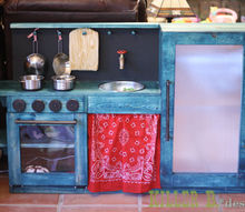 charlie s chemical free one piece play kitchen, diy, woodworking projects, Full view