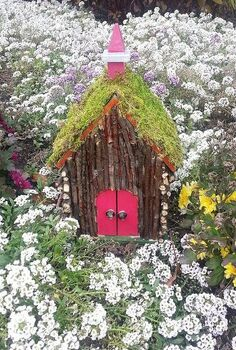 home made fairie houses, crafts, gardening