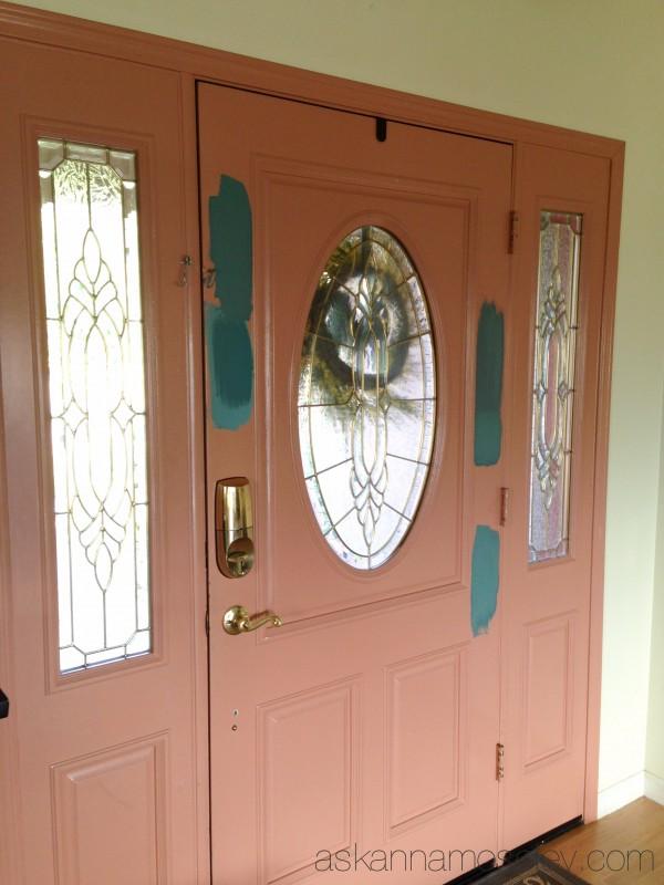 Unique front door colors with chalk paint hometalk for Chalk paint door