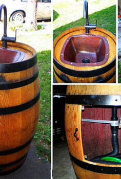 easy diy keg sink for your backyard, diy, how to, outdoor living, repurposing upcycling