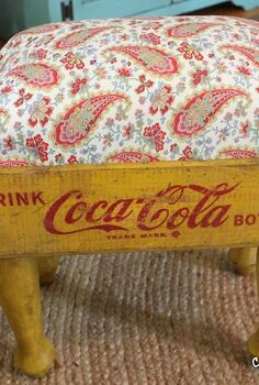 footstool using an old soda crate, repurposing upcycling