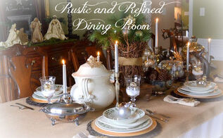 my rustic and refined christmas dining room, dining room ideas, seasonal holiday decor, Rustic and refined Christmas tablescape