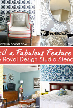 stencil inspiration for accent and feature walls, home decor, painting, wall decor, Stenciled Feature Wall inspiration with Royal Design Studio Stencils