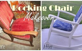 10 rocking chair makeover, chalk paint, painted furniture