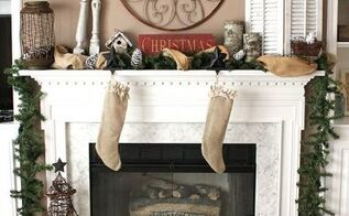 rustic amp earthy christmas mantel, christmas decorations, electrical, seasonal holiday decor