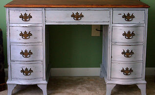 antique desk redo using diy chalk paint and diy dark wax, chalk paint, painted furniture