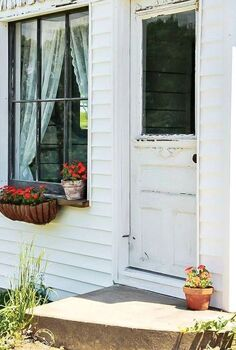 an ancient farmhouse shed becomes a cottage style guest room, bedroom ideas, home decor