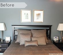 modern farmhouse bedroom makeover, bedroom ideas, home decor, repurposing upcycling, wall decor