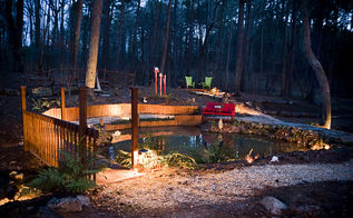 custom outdoor lighting for a spectacular national award winning outdoor garden by, lighting, outdoor living, Beautiful Pond Area