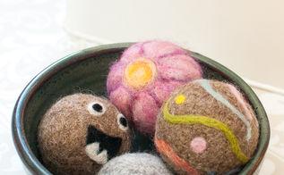 felted dryer balls, crafts