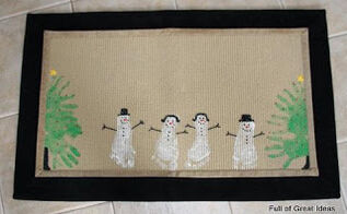 hand print and footprint area rug gift, crafts