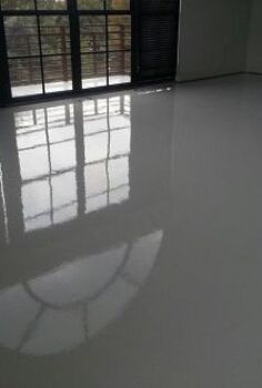 bright white epoxy and urethane floors are being installed in lofts and condos what, flooring, Here is another view of this Bright White Epoxy and Urethane flooring