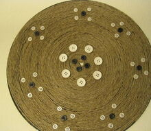 do you have an old record make it a nice gift with twine and buttons, crafts