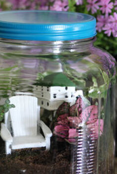 colorful terrarium tutorial, container gardening, crafts, gardening, terrarium, Colorful terrarium