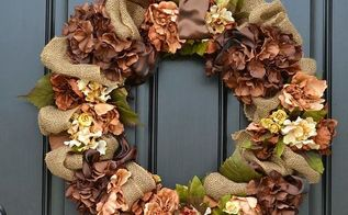 diy burlap fall wreath tutorial, crafts, seasonal holiday decor, wreaths, Burlap Fall Wreath